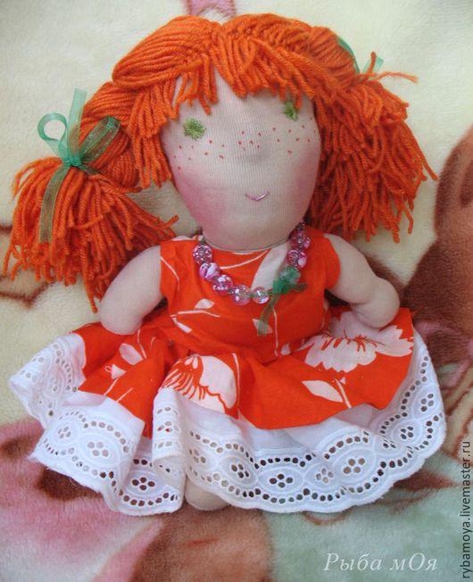 Рыжик. Текстильная игровая кукла. Вальдорфская. Ярмарка мастеров-ручная работа. Handmade. Купить Waldorf attic red doll. Мастер Яга.