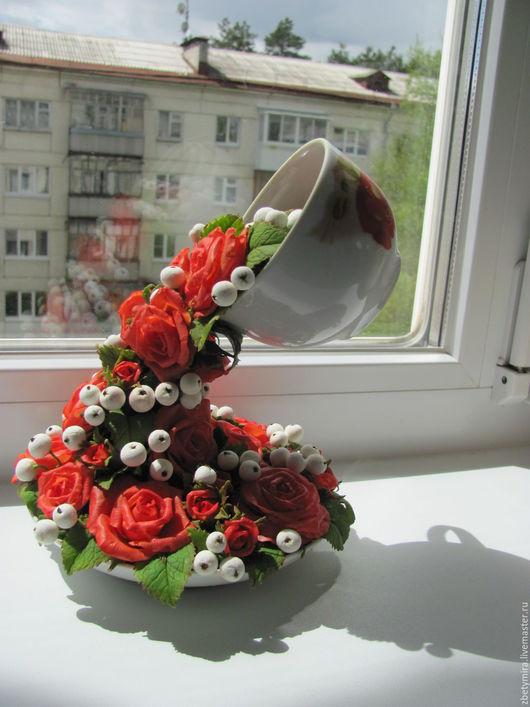 Букеты ручной работы. Ярмарка Мастеров - ручная работа. Купить Букет розы изобилия. Handmade. Бежевый, цветы, ранункулюсы, подарок