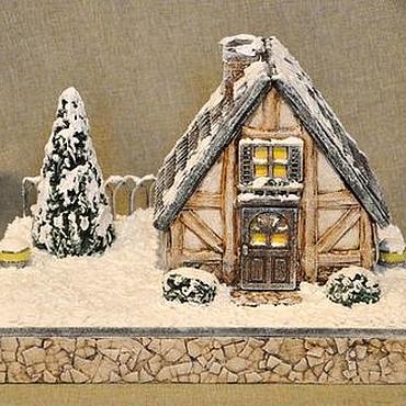 """Для дома и интерьера ручной работы. Ярмарка Мастеров - ручная работа Шкатулка-домик  """" Рождество в Германии """". Handmade."""