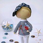 Куклы и игрушки handmade. Livemaster - original item Interior textile doll Sailor. Handmade.