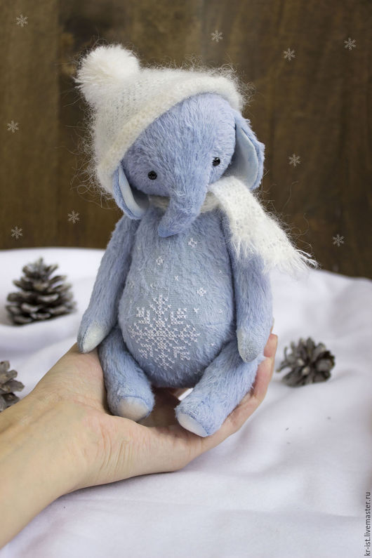 Мишки Тедди ручной работы. Ярмарка Мастеров - ручная работа. Купить Фаня. Handmade. Голубой, слоник, подарок на новый год, кианит