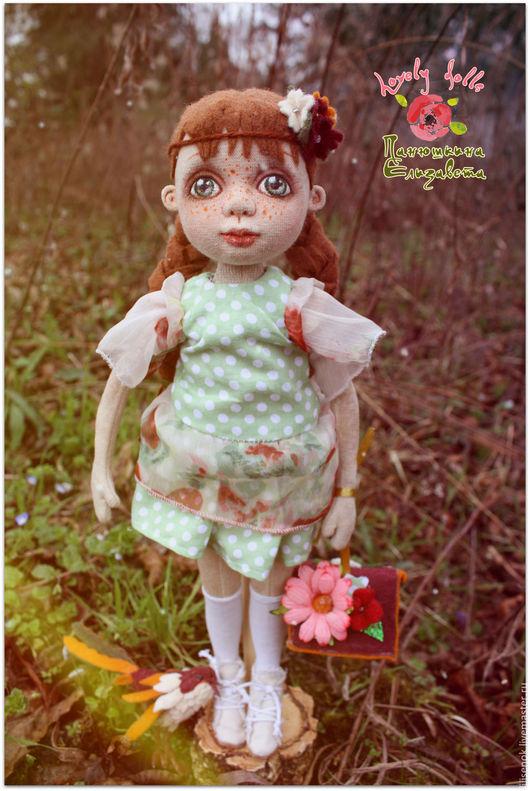 Коллекционные куклы ручной работы. Ярмарка Мастеров - ручная работа. Купить Аура. Handmade. Бежевый, кукла в подарок, кукла интерьерная