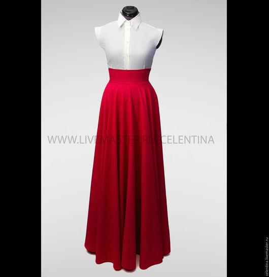 Юбка в пол, длинная юбка, юбка макси, пышная юбка, юбка из габардина, юбка со складками, юбка солнце, юбка длинная в пол, длинная юбка, макси юбки, черная юбка, красная юбка , модная юбка