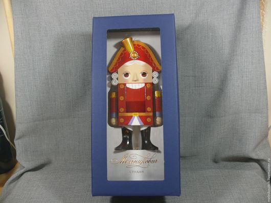 Винтажные куклы и игрушки. Ярмарка Мастеров - ручная работа. Купить Подарочная коробка для щелкунчика. Синяя.. Handmade. Тёмно-синий, орехокол