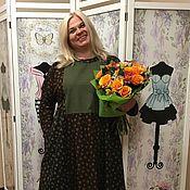 """Одежда ручной работы. Ярмарка Мастеров - ручная работа Платье из фланели """"Вся в розочках 2"""". Handmade."""
