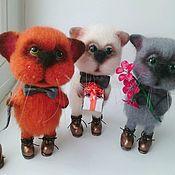 Куклы и игрушки ручной работы. Ярмарка Мастеров - ручная работа Валяный кот в ботинках.. Handmade.