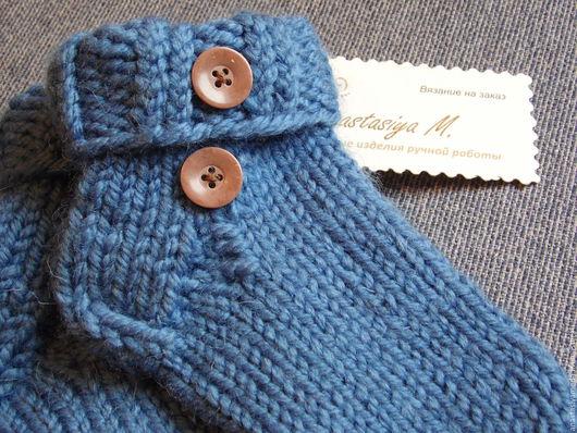 Носки, гольфы, гетры ручной работы. Ярмарка Мастеров - ручная работа. Купить Детские носочки (для мальчика). Handmade. Синий