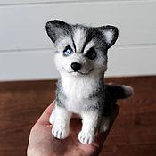 Куклы и игрушки handmade. Livemaster - original item Husky dog symbol of the year toy made of wool. Handmade.