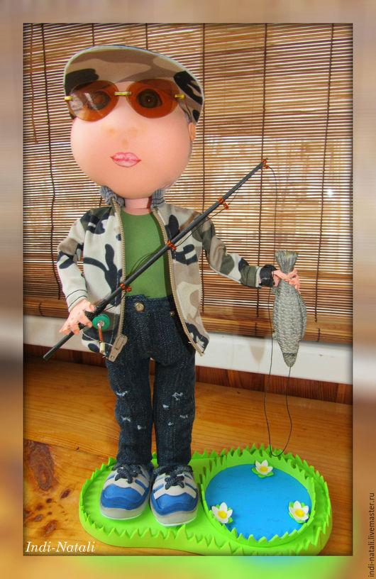 """Портретные куклы ручной работы. Ярмарка Мастеров - ручная работа. Купить Портретная кукла. Кукла по фото""""Чёк-чёк-рыбачёк"""" из ФОМа.. Handmade."""