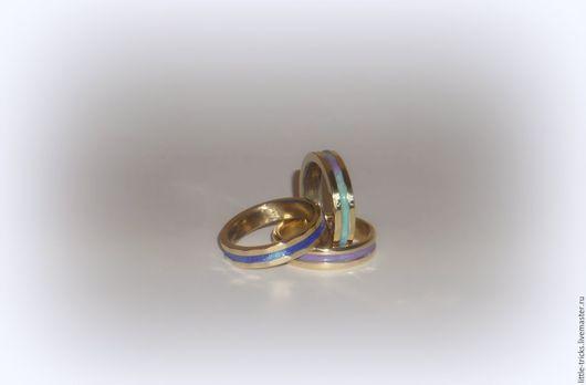 Кольца ручной работы. Ярмарка Мастеров - ручная работа. Купить Кольца Мираж. Handmade. Комбинированный, подарок, авторские украшения, латунь