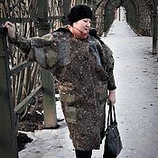 """Одежда ручной работы. Ярмарка Мастеров - ручная работа Пальто декорированное флисом""""Любви старинные туманы"""". Handmade."""