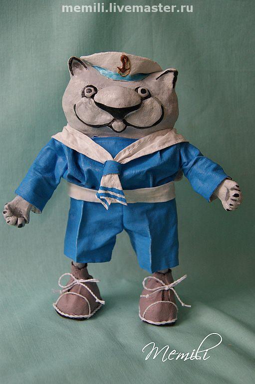 """Игрушки животные, ручной работы. Ярмарка Мастеров - ручная работа. Купить Кот """"Юнга"""". Handmade. Кот, кот-матрос"""