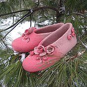 """Обувь ручной работы. Ярмарка Мастеров - ручная работа Тапочки """"Лабутены домашние!"""". Handmade."""