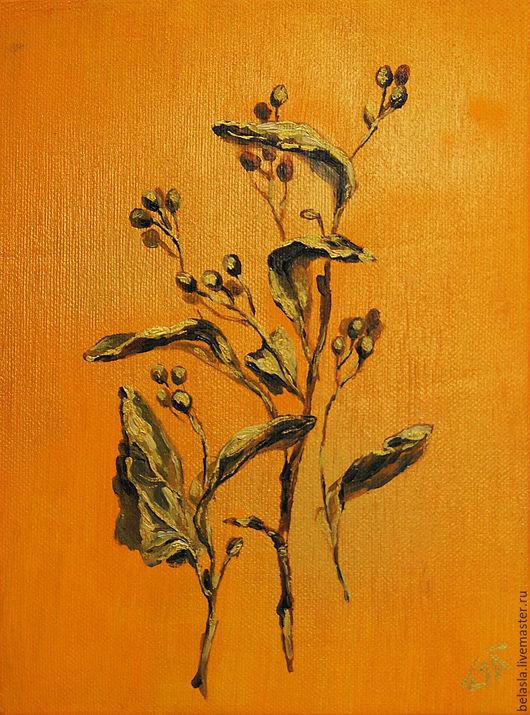 Картины цветов ручной работы. Ярмарка Мастеров - ручная работа. Купить Сибирская флора, серия картин. Handmade. Оранжевый, картина