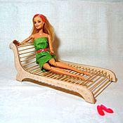 Куклы и игрушки ручной работы. Ярмарка Мастеров - ручная работа Шезлонг, диван, кровать для куклы. Handmade.
