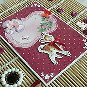 """Открытки ручной работы. Ярмарка Мастеров - ручная работа Открытка """"Розовая нежность"""". Handmade."""