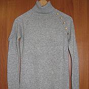 Винтаж handmade. Livemaster - original item Vintage clothing: Sweater turtleneck gray women`s long sleeves. Handmade.