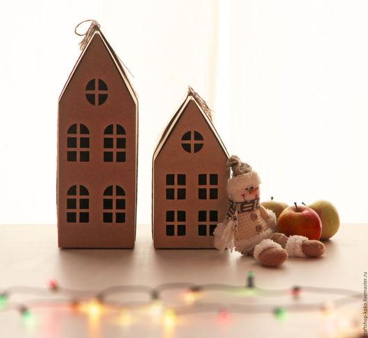 """Упаковка ручной работы. Ярмарка Мастеров - ручная работа. Купить Коробка подарочная самосборная """"Домик"""". Handmade. Бежевый, коробка для игрушки"""