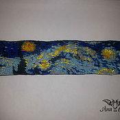 """Украшения ручной работы. Ярмарка Мастеров - ручная работа Браслет из бисера """"Звездная ночь"""" Ван Гога. Handmade."""