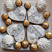 Сувениры и подарки handmade. Livemaster - original item Gingerbread ginger. Lace. Gift for the guests.. Handmade.