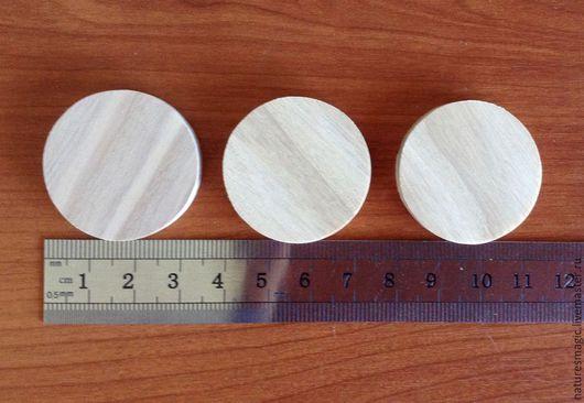 Заготовки 3,4 см круглые. На фото - заготовки из ясеня. Цена указана за 1 набор, в наборе - 5 шт. заготовок одной породы дерева.