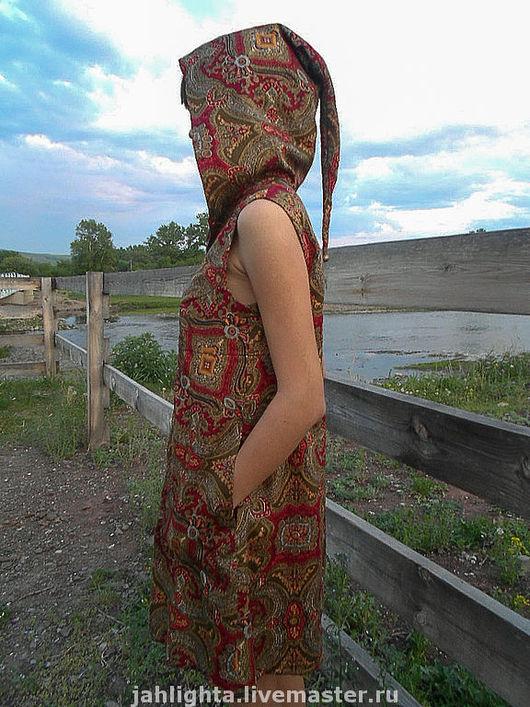 """Этническая одежда ручной работы. Ярмарка Мастеров - ручная работа. Купить Платье с эльфийским капюшоном """"Ароматы Востока"""". Handmade."""