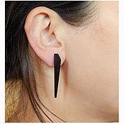 Украшения handmade. Livemaster - original item earrings made of black wood.. Handmade.