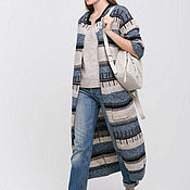 Одежда ручной работы. Ярмарка Мастеров - ручная работа Вязаное пальто кардиган в стиле бохо. Handmade.