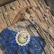 """Украшения ручной работы. Ярмарка Мастеров - ручная работа Брошь-жабо """"В стиле джинс"""". Handmade."""