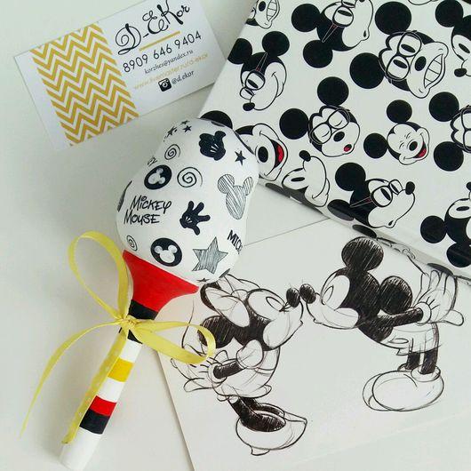 """Подарки для новорожденных, ручной работы. Ярмарка Мастеров - ручная работа. Купить Погремушка """"Mickey mouse"""". Handmade. Погремушка, на рождение ребенка"""