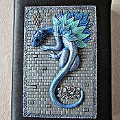 Канцелярские товары handmade. Livemaster - original item Notebook Blue Dragon handmade. Notepad from scratch.. Handmade.