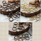 Accessories for jewelry handmade. Livemaster - original item 20 PCs. Double rings are 7 mm, 3 color (Ref. 977). Handmade.