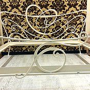 Для дома и интерьера handmade. Livemaster - original item Wrought iron bed white. Handmade.