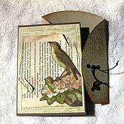 """Открытки ручной работы. Ярмарка Мастеров - ручная работа открытка """" Старые письма 1"""". Handmade."""