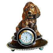 Статуэтка ручной работы. Ярмарка Мастеров - ручная работа Статуэтка: Собачка   с  часами. Handmade.