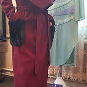 Одежда ручной работы. Ярмарка Мастеров - ручная работа Пальто марсала.. Handmade.
