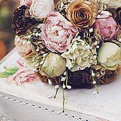 Свадебный салон ручной работы. Ярмарка Мастеров - ручная работа Винтажный букет невесты с увядшими розами.. Handmade.