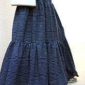 Одежда ручной работы. Ярмарка Мастеров - ручная работа Летняя макси юбка синяя. Handmade.