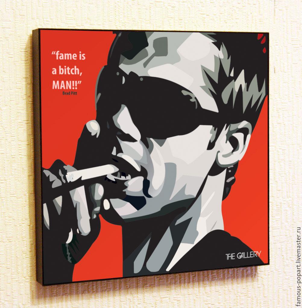 Picture poster brad pitt Pop Art, Fine art photographs, Moscow,  Фото №1