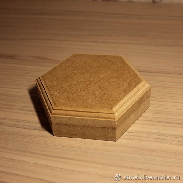 Шкатулка шестигранная с1515в1 (15 см диаметр)