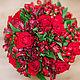 Свадебные цветы ручной работы. Букет невесты / Красный свадебный букет. Ежевика ● Флористика и декор. Интернет-магазин Ярмарка Мастеров.