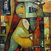 Картины и панно ручной работы. Ярмарка Мастеров - ручная работа Авторская живопись в стиле фэнтази- Маскировщик - кот. Handmade.