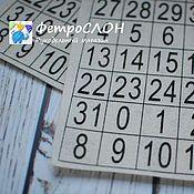 Материалы для творчества ручной работы. Ярмарка Мастеров - ручная работа Фетр принтованный для календаря Числа. Handmade.