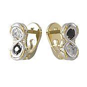 Украшения handmade. Livemaster - original item Earrings gold, prima diamond. Handmade.