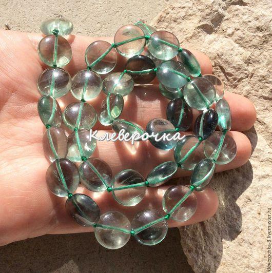 Для украшений ручной работы. Ярмарка Мастеров - ручная работа. Купить ..Флюорит 12 мм зеленый монета бусины камни для украшений. Handmade.