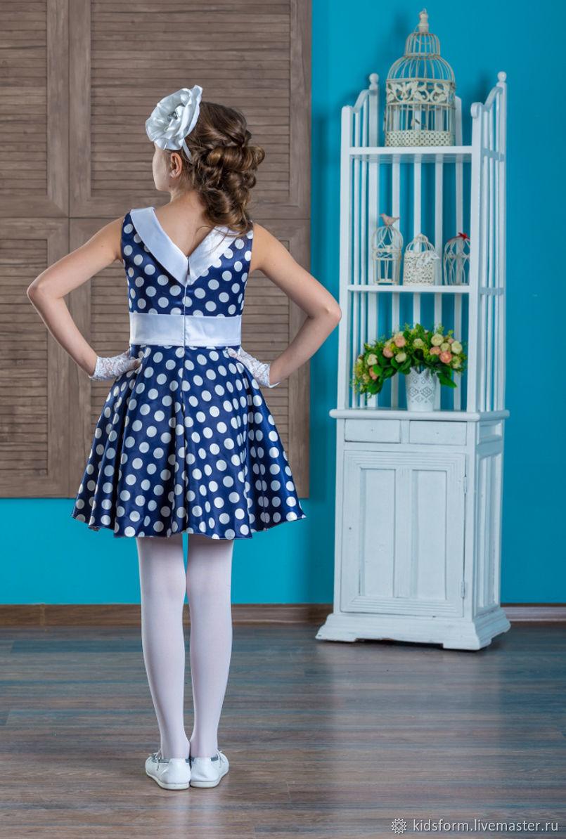 Нарядное платье Стиляги ретро в горох
