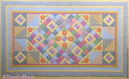 Текстиль, ковры ручной работы. Ярмарка Мастеров - ручная работа. Купить Лоскутное одеяло покрывало НЕЖНОСТЬ. Handmade. Голубой