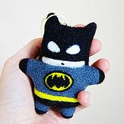 Куклы и игрушки ручной работы. Ярмарка Мастеров - ручная работа Бэтмен (игрушка из шерсти). Handmade.