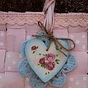 Для дома и интерьера handmade. Livemaster - original item Bast basket decoupage shabby style polka dot pink. Handmade.
