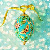 Подарки к праздникам ручной работы. Ярмарка Мастеров - ручная работа Елочная игрушка Инжир и бабочки. Handmade.